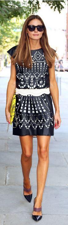 Olivia Palermo: Dress – Catherine Malandrino for Kohl's  Shoes – Christian Dior  Sunglasses – Westward Leaning