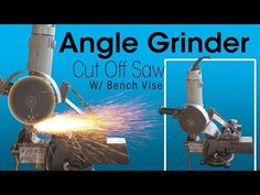 Angle Grinder Cut Off Saw With Bench Vise(DIY)