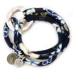 Fortune telling Geisha armband blue velvet - #japan #sakura #kimono #applepiepieces #luck #geluk #sieraden