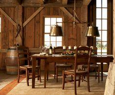 Rustic dining.