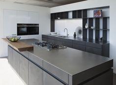 Prachtige 4 mm massieve roestvrijstalen maatwerkbladen / Beautiful 4 mm massive stainless steel worktops