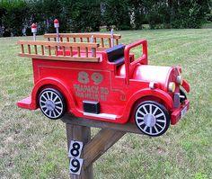 Fire Engine Mailbox