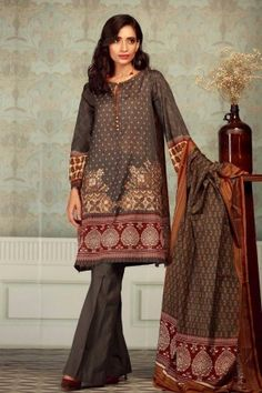 3f8c001544 Khaadi Unstitched 3 Piece Mid Summer Collection 2017 with model Rubab Ali