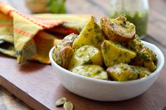 Hatch Chile Pesto Potatoes - A Communal Table