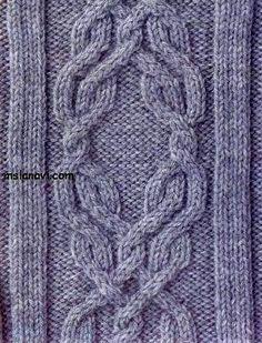 Рельефный узор спицами №15