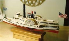 NE Steamboat MARTHA'S VINEYARD c.1895, Scale Wood Model