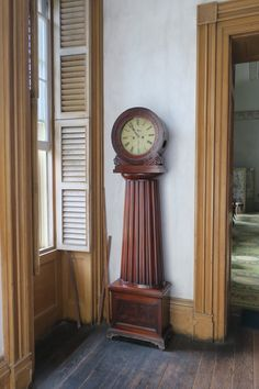 The clock found in Hyde Hall's entrance hall