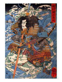 Japanese art Japanese samurai warrior Kuniyoshi FINE ART PRINT japanese art prints japanese posters japan wall art japan home decor Japanese Wave Painting, Japanese Art Prints, Japanese Waves, Japanese Poster, Samurai Art, Samurai Warrior, Woodblock Print, Art Mural Japonais, Art Conceptual