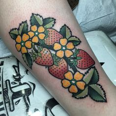 Strawberry plant by Ryan Campbell at Memento in Baltimore, Maryland