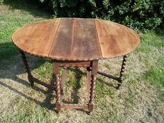 vintage/antique solid oak drop leaf dining table shabby chic project | eBay