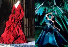 Ishioka designs for Dracula (left) and Spider Man: Turn off the Dark (right)