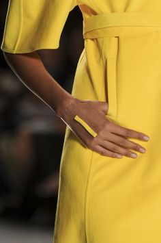 a happy yellow from Chado Ralph Rucci Spring 2013