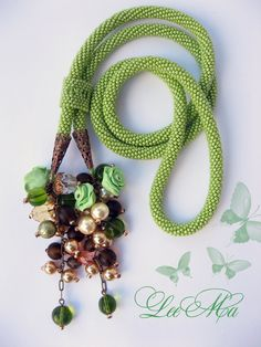 "Lee Marina - Bead Crochet Necklace ""Dreams of Hawaii""."