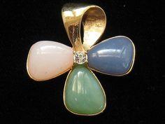 Vintage Avon Rhinestone Cabochon Stone Flower by mimisvintageshop, $15.00