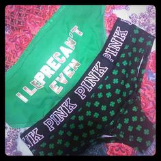 Victoria's Secret Panty Bundle Hiphugger Cheekster VS panty bundle. One pair Cheekster, one pair Hiphugger. Both st pattys day themed. Brand new in plastic packaging, they were ordered online so no price tags. Size small Victoria's Secret Intimates & Sleepwear Panties