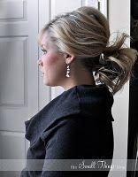 Love messy ponytails!