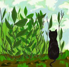 Gato con color