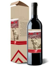 Red Wine Packaging Food Wine Packaging, Red Wine, Alcoholic Drinks, Bottle, Glass, Food, Design, Drinkware, Flask