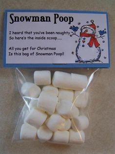 Cute little gift idea: Snowman Poop #Gifts #Christmas