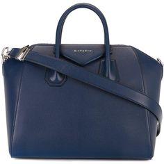 Givenchy medium 'Antigona' tote ($2,435) ❤ liked on Polyvore featuring bags, handbags, tote bags, blue, blue tote handbags, tote hand bags, blue handbags, givenchy tote and handbags totes