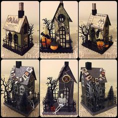 Isa Creative Musings: Tim Holtz Sizzix  Halloween paper houses and  Papertrey Ink tree die