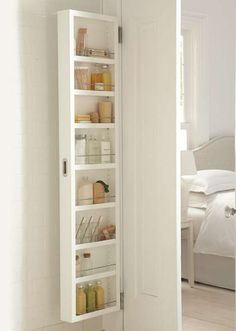 Large-capacity storage for small spaces--just add one to the back of your door!