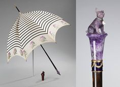 Parasol with amethyst pug knob, 1900–1910. New York. Museum at FIT