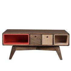 Prostokątny stolik Woodjam Play Dark Komodo, Credenza, Buffet, Mango, Play, Cabinet, Storage, Furniture, Home Decor