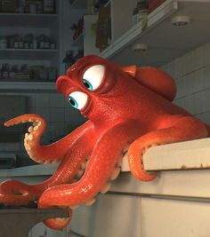 "Meet Hank the octopus (Ed O'Neil) from Disney/Pixar's ""Finding Dory"""