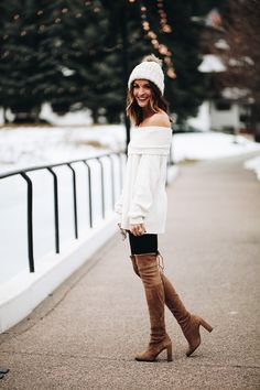 lauren sims white free people sweater. Sweater Weather | #MichaelLouis - www.MichaelLouis.com
