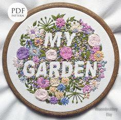 Embroidery pattern pdf  GARDENEmbroidery hoop