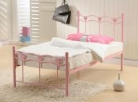 An Extraordinary Deal For Your Princess-Madrid Single Kids Bed with 14cm Mattress + Free Pillow