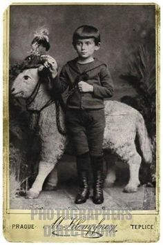 Franz Kafka's childhood photograph Prague, age 5, 1888.whoa. this explains a lot