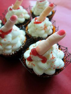 Sweet Scary Finger Cupcake Toppers Edible / by mimicafeunion