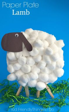 Easy Paper Plate Lamb Craft For Kids