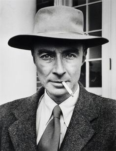"""""""Now I am become death, destroyer of worlds"""" Robert Oppenheimer head of US Atomic Bomb project quote Hindi scripture upon Trinity test of first Atomic bomb"""