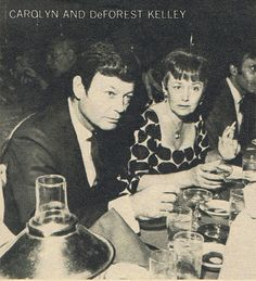 themirrortribble:    DeForest Kelley & wife.    I haven`t seen that picture before.Very, very beautiful.