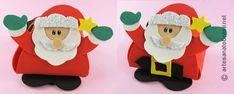 Lembrancinha Porta bombom e Cestinha de papai Noel em EVA