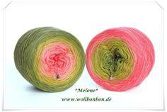 Melone, 100% Merino, 750m, 5 fädig  von Wollbonbon auf DaWanda.com