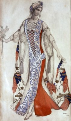 From Perrault's tale 'the Sleeping Princess (La belle au bois dormant) 1921 - music by Tchaikovsky, choreography by Marius Petipa. costume design for Princess Aurore by Leon Bakst. Theatre Costumes, Ballet Costumes, Léon Bakst, Sleeping Beauty Ballet, Australian Ballet, Inspiration Art, Russian Ballet, Grimm, Costume Design