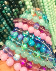 4 Strands Mixed shapes 10MM-20MM Green Hand Painted Wood Craft All Purpose Beads