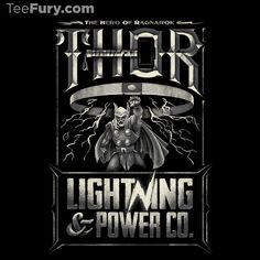 Lightning Power Co. by Ian Leino - Shirt sold on November 1st at http://teefury.com - More by the artist at http://www.ianleino.com/