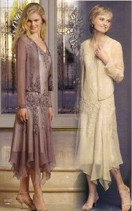 vintage mother of bride or Mother of the Groom dresses- LOVE this if it if the hemwas straight across instead........