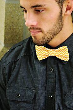 Orange Chevron Bow Tie. MEMBER -  SunFlowerFreckles Chevron Bow, Orange Chevron, Bows, Tie, Accessories, Confident Woman, Women, Arches, Bowties