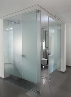 Frosted glass. For. Toilet and bidet. Love the idea of having. Clear glass walled. Bathroom /. Wet room. Or. Glass walled bedroom. I'd. Adore that                                                                                                                                                     More
