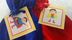 PARTY PACK Sets of 6 to 12 - Super Hero Boy and Girl Favor Bags (Filled) by TeatotsPartyPlanning on Etsy