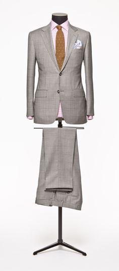 Brown suit  Faux uni brown windowpain S110  http://www.tailormadelondon.com/shop/tailored-suit-fabric-3878-checksharkskin-grey/