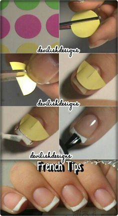 Tutorial on how to make french manicure