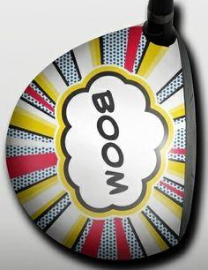 Personalized golf driver decal by Big Wigz Skins - Boom Shaka Laka.  Buy it @ ReadyGolf.com
