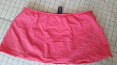 ana Bathing Suit Swimwear Swim Skirt Skirtini Bottom Coral Orange Womens size 10 #ana #SwimSkirt
